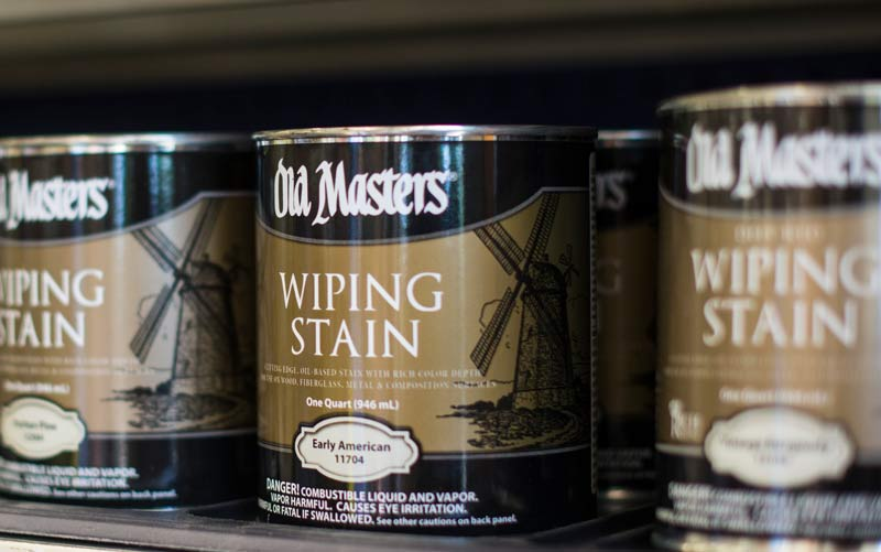 Benjamin Moore Paints And Old Masters Wiping Stain Cans